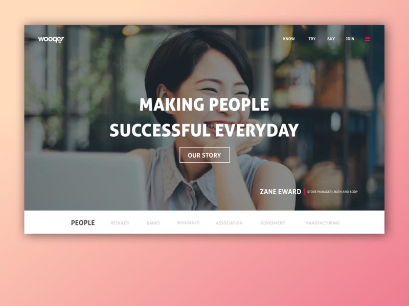 Website Design website flat app design ui typography