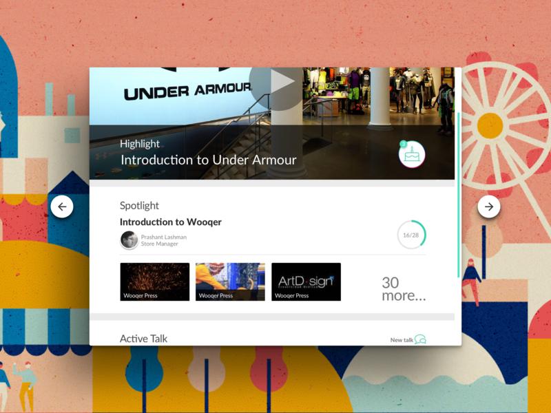 Birthday notification, Spotlight, Progress bar iPad ui flat product design typography ui design