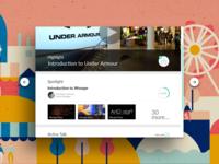 Birthday notification, Spotlight, Progress bar iPad ui