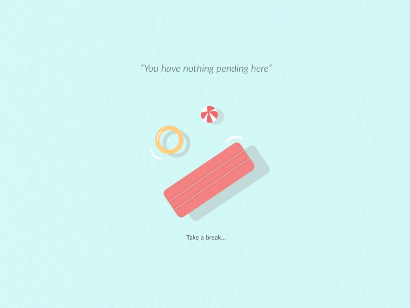 Minimal Illustration 'Take a break' web website empty state illustration product design flat design ui