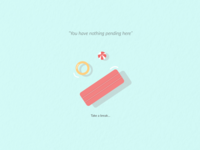 Minimal Illustration 'Take a break'