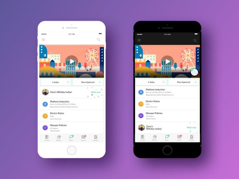 UI for IOS app typography product design design ui