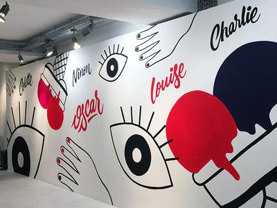 Bibiche - L'imprimerie Pop Up Store typography type logo lettering handwriting design calligraphy