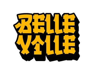 Belleville illustration typography type logo lettering handwriting design calligraphy