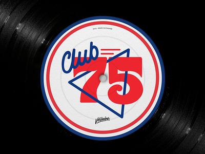 Club 75 illustration typography type logo lettering handwriting design calligraphy
