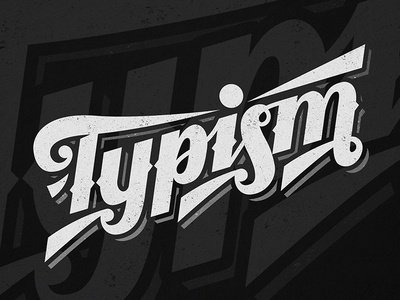 Typism vector icon letters branding graffiti illustration type lettering typography logo handwriting design calligraphy