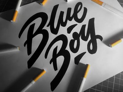 Blue Boy motion vector mural icon letters branding graffiti illustration type lettering typography logo handwriting design calligraphy
