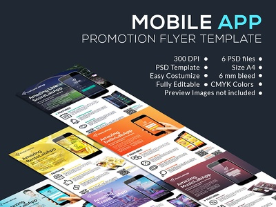 Mobile App Promotion Flyer Template promotion flyer template mobile app flyer template a4 advertisment ads promotion poster flyer