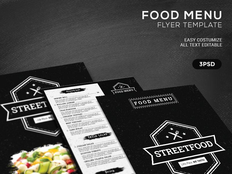 food menu flyer template by gilang tito dharmawan dribbble dribbble