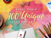 100 UNIQUE LOGOS DESIGN
