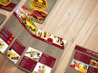 Bi-Fold Fast Food Menu Template