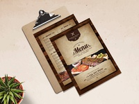 Vintage Restaurant Menu Template