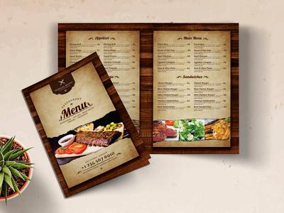 Vintage Restaurant Bifold Menu