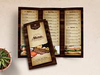 Vintage Restaurant Trifold Menu