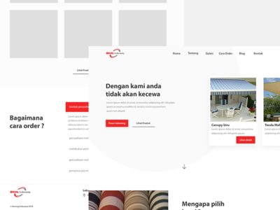 Awning Indonesia - Landing Page