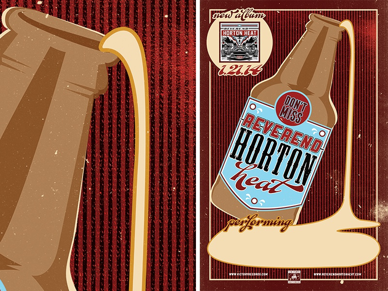 reverend horton heat :: tour poster type typography design music tour poster reverend horton heat