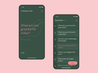 Q365: Daily Journaling daily diary journal app calendar homepage mobile app q365