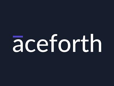 Aceforth Logotype - Dark Version marquez design logo branding