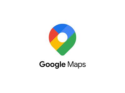 Google Maps - Logo Redesign redesign flat web app icon branding vector logo design minimal
