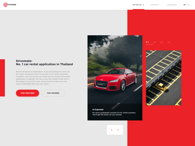 Drivemate web design ux typography ui minimal branding design