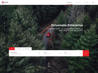 Drivemate web design ux typography branding ui design minimal