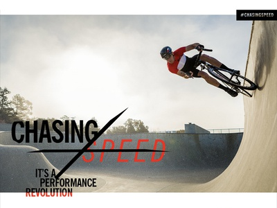 Chasing Speed Campaign Graphics for Giro Sport Design giro skate park cervello bike cycling action sports campaign chasing speed revolution type