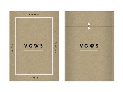 VGWS envelope folder packing edmond sans lost type rendering apparel supply look book shipping craft