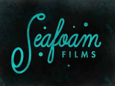Seafoam Films seafoam sea foam script futura retro santa cruz ocean bubbles font custom type