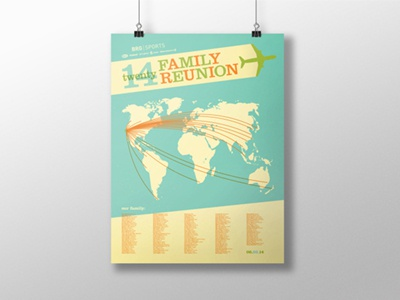 Bell Riddell Giro International Sales Meeting Poster bell riddell giro poster international family reunion