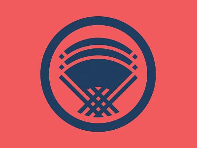 Three Fan Logo circle logo japanese fans