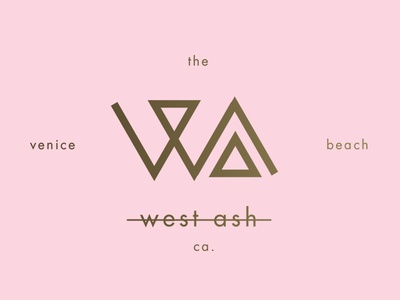 West Ash Clothing Logo clean san serif boutique sharp modern a w logo branding apparel venice