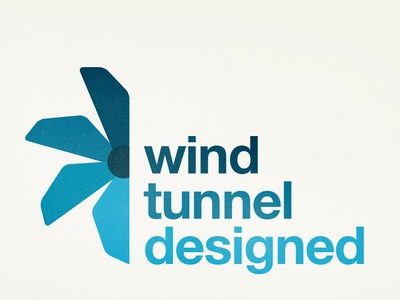 Wind Tunnel Logo engeneering cycling fast simple modern clean helvetica logo tunnel wind