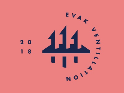 Evak Vent Technology Logo negative space clean simple ski action sports snowboarding futura vent arrows logo