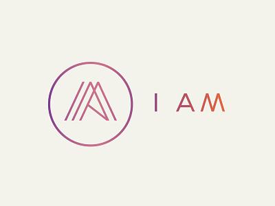 I AM branding project lines thin monoweight logo m i branding