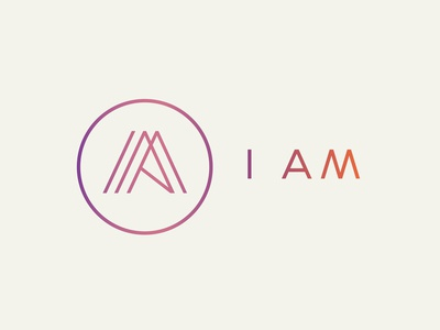 I AM branding project lines thin monoweight logo m i branding