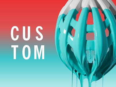 Custom Giro Helmet Campaign s u c drip 3d printed white dip paint banner ad bike advertisement aether cycling giro helmet red teal custom campaign gradient