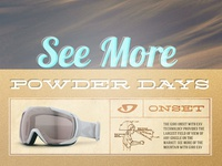 Vintage Snow Goggle Advertising Campaign Concept