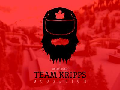 Kripps Canadian Bobsleigh Team Logo logo sochi 2014 olympics bobsleigh beard beardmode kripps canada bobsled