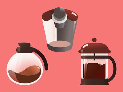 mmmmm coffee mornings morning coffee machine caffeine french press coffee pot keurig illustration coffee