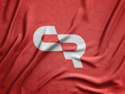 CR - unused monogram vector red cr monogram minimal logo illustrator design