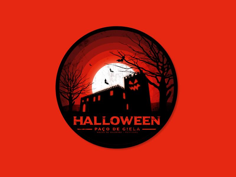 Halloween no Paço de Giela Badge badgedesign badge design halloween illustration badge design adobe illustrator