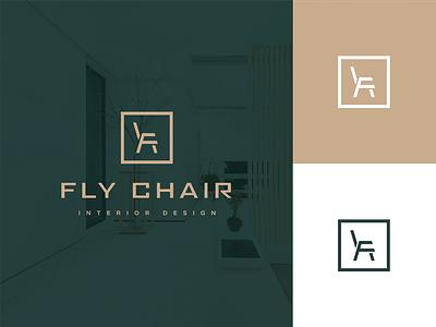 Flychair - Interior Design monogram logotype interior design letter vector minimal logo branding adobe design illustrator