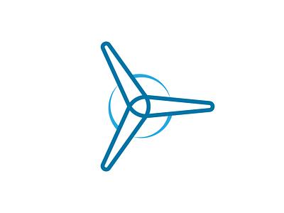 Wind Turbine Logo Concept wind wind turbine adobe vector brand minimal branding logo design illustrator