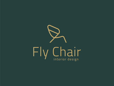 Fly Chair - approved concept interior design f chair wing design idenity logotype brand minimal logo adobe illustrator
