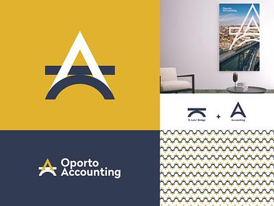 Oporto Accounting Approved Logo brand services a vector idenity logotype logo branding minimal monogram accounting bridge oporto design adobe illustrator