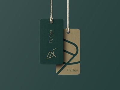 Fly Chair brand vector idenity photoshop logotype minimal branding logo mrmockup tag interior design mockup design adobe illustrator