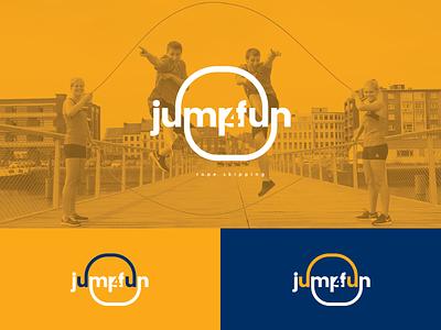 Jump 4 Fun negative space design vector idenity logotype branding logo illustrator fun team ropes jump rope skipping