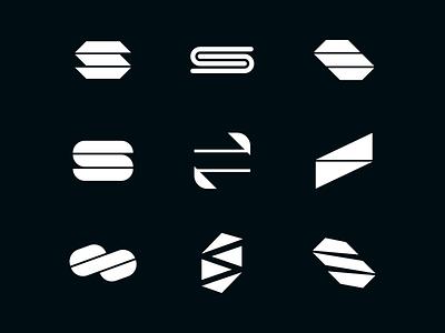 S lettermark explorations branding monogram lettermark workout app fitness app s letter brand minimal logo adobe design vector