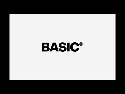 BasicAgency.com digital branding typography homepage design basic web design