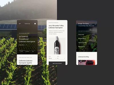 SilverOak 2 homepage design winery silver oak silver oak wine ecommerce digital branding basic agency basic web design